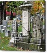 Cemtery Cracked Tombstones Acrylic Print