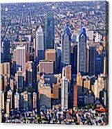 Center City Aerial Photograph Skyline Philadelphia Pennsylvania 19103 Acrylic Print