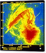 Center Of The Galaxy Radio Image Acrylic Print