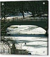 Central Park Bridge-winter Acrylic Print