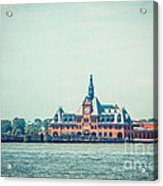 Central Railroad Terminal Of New Jersey Acrylic Print