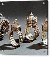 Ceremonial Marriage Rings Acrylic Print