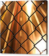 Chain-link And Light Lines Acrylic Print