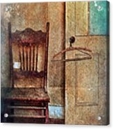 Chair By Open Door Acrylic Print