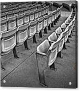 Chair Seating In An Arena With Oak Leaf Acrylic Print