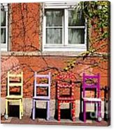 Chairs At Hamlyn Acrylic Print
