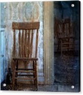 Chairs In Rundown House Acrylic Print