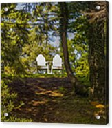 Chairs In The Sun Acrylic Print