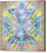 Chalice Of Vortexes Chalicell Rings On Renaissance Back Acrylic Print