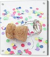 Champagne Cork And Confetti Acrylic Print