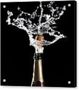Champagne Cork Explosion Acrylic Print by Gualtiero Boffi