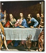 Champaigne: Last Supper Acrylic Print