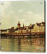 Chapel Bridge Lucerne Switzerland Acrylic Print