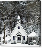 Chapel In The Snow - D007592 Acrylic Print by Daniel Dempster