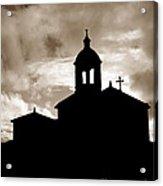 Chapel Silhouette Acrylic Print
