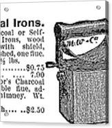 Charcoal Iron, 1895 Acrylic Print
