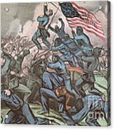 Charge Of The 54th Massachusetts Acrylic Print
