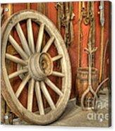 Chariot Wheel Acrylic Print