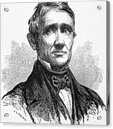 Charles Goodyear /n(1800-1860). American Inventor. Line Engraving, 19th Century Acrylic Print