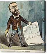 Charles Guiteau Cartoon Acrylic Print by Granger