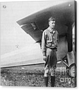 Charles Lindbergh American Aviator Acrylic Print by Photo Researchers