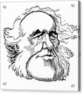 Charles Lyell, Caricature Acrylic Print by Gary Brown