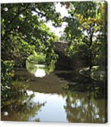 Charles River Near Fenway Park Acrylic Print by Loud Waterfall Photography Chelsea Sullens