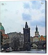 Charles Street Bridge And Old Town Prague Acrylic Print