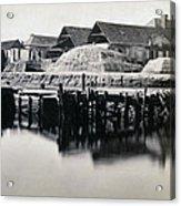 Charleston South Carolina - Vanderhorst Wharf - C 1865 Acrylic Print