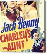 Charleys Aunt, Jack Benny, Kay Francis Acrylic Print