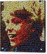 Charlie Buckets Fizzy Lifting Drinks  Bottle Cap Mosaic Acrylic Print by Paul Van Scott