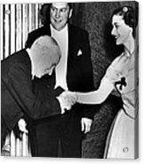 Charlie Chaplin Meeting Princess Acrylic Print by Everett