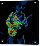 Playing Psychedelic Blues At Winterland In 1975 Acrylic Print