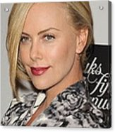 Charlize Theron At In-store Appearance Acrylic Print