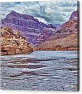 Charting The  Mighty Colorado River Acrylic Print