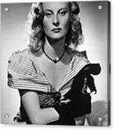 Chase, The, Michele Morgan, 1946 Acrylic Print by Everett
