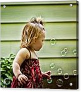 Chasing Bubbles Acrylic Print