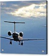 Chasing Jet Fumes Acrylic Print