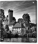 Chateau On The Lake At Annecy Acrylic Print