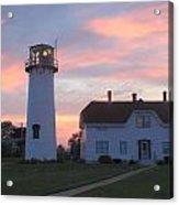 Chatham Lighthouse Sunset Acrylic Print