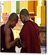 Chatting Monks Acrylic Print