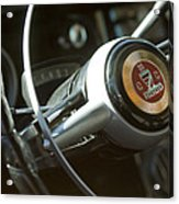 Checker Taxi Cab Steering Wheel Acrylic Print