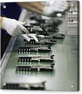 Checking Tv Circuit Board Components Acrylic Print