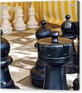 Checkmate Acrylic Print by Christina Vodas