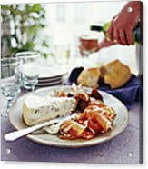 Cheese And Ham Meal Acrylic Print