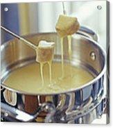 Cheese Fondue Acrylic Print