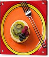 Cheesecake On Plate Acrylic Print