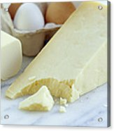 Cheeses And Eggs Acrylic Print