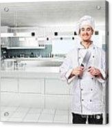 Chef On Duty Acrylic Print