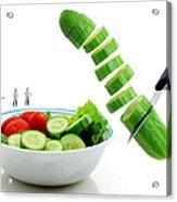 Chefs Making Salad Acrylic Print